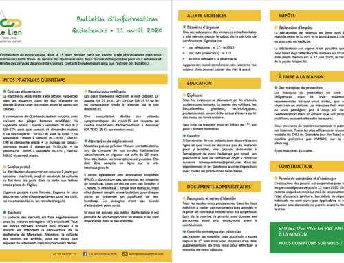 Bulletin Spécial Covid-19