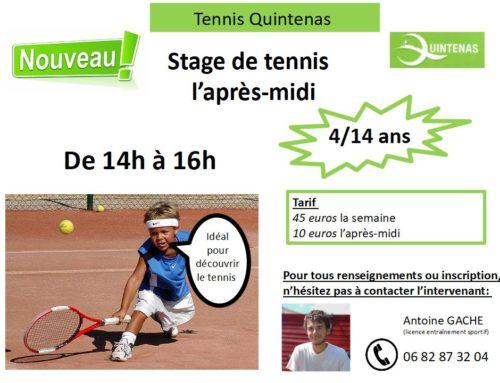 Stage de tennis – ANNULÉ