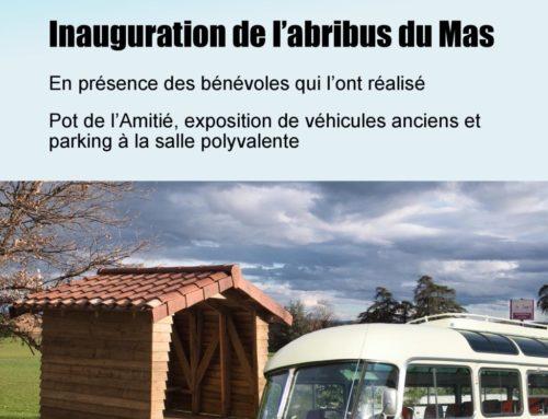 Inauguration de l'abribus du Mas